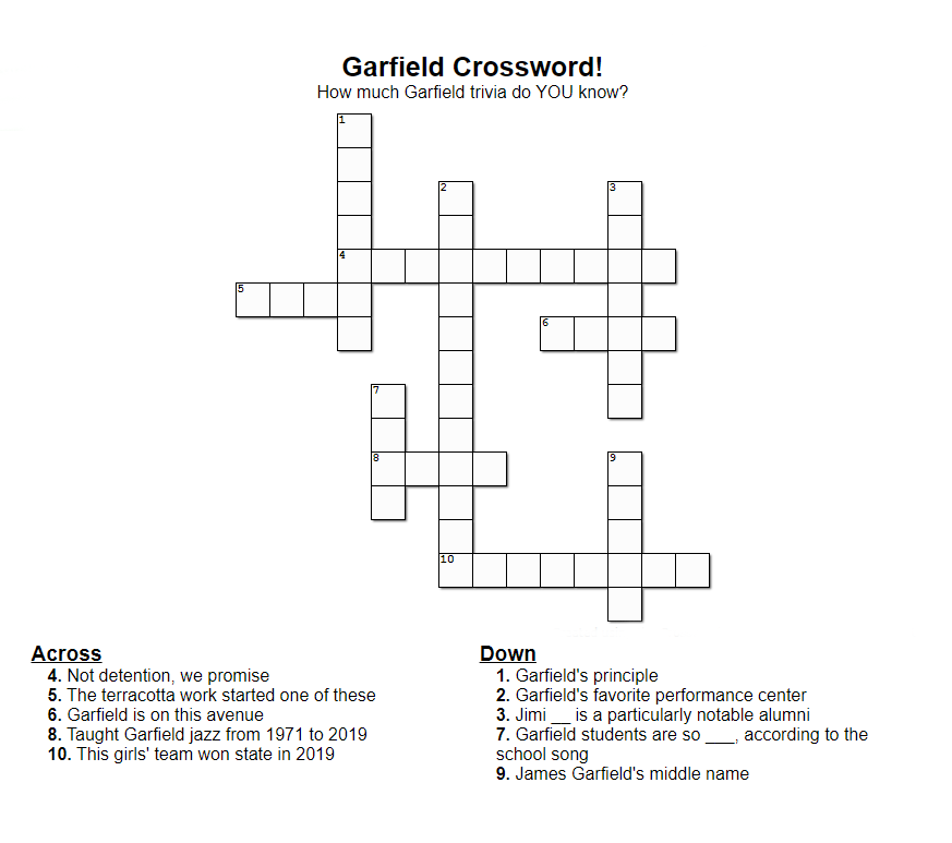 Garfield Crossword